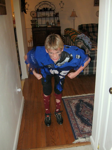 Mr. Athletic as the Haunted Football Player
