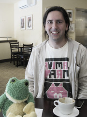 Kaolin and Junior the plush frog