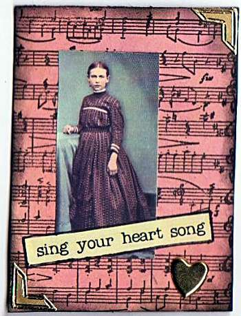 Sing Your Heart Song ATC