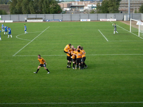 Dumbarton Celebrate Their Last Minute Winner