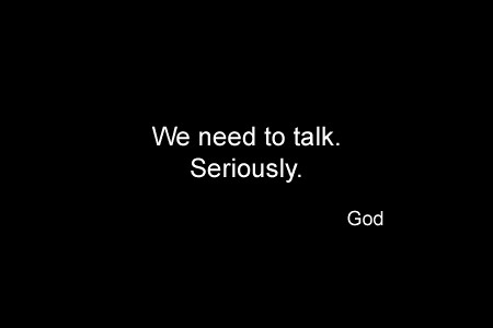 God Series 30 - Talk