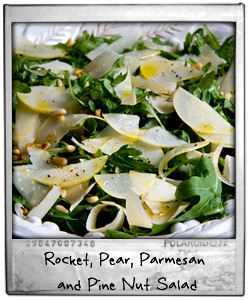 Rocket, Pear, Parmesan and Pine Nut Salad