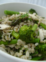 Green Chicken Pot Barley Salad