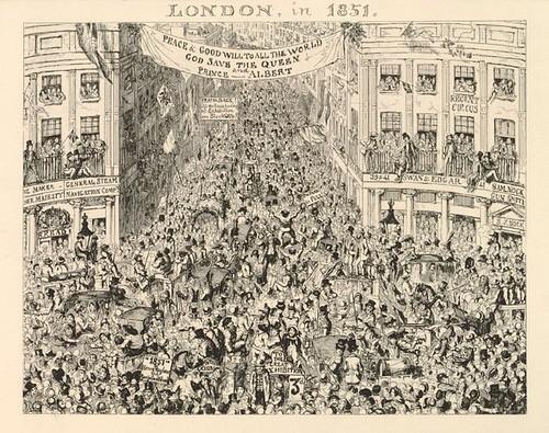 satirical cartoon - London in 1851