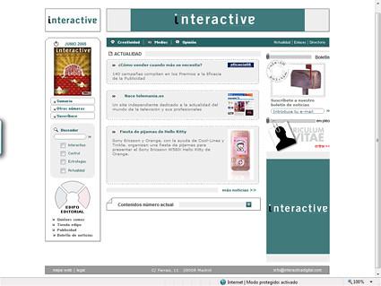Antigua web de Interactiva (Grupo Control)