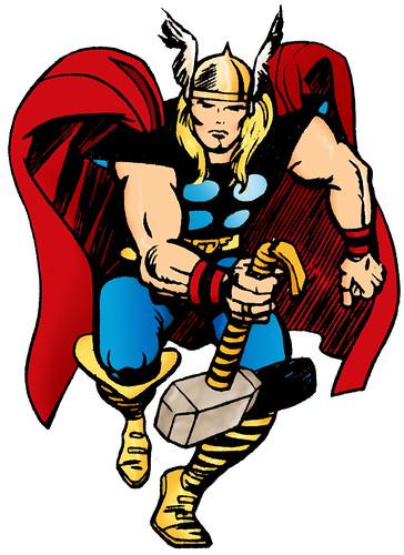 O Poderoso Thor no traço de Jack Kirby - CLIQUE PARA AMPLIAR O DESENHO