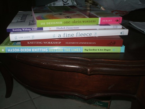 Book stash acquisitions from KnitPicks sale