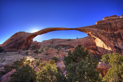 Landscape Arch at sunrise