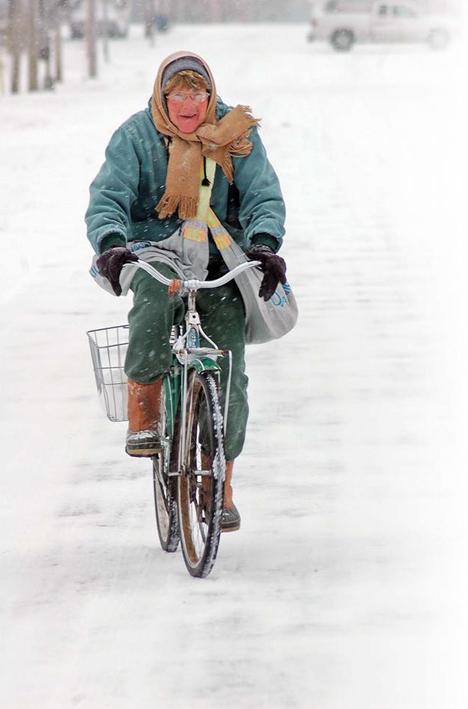 Dee Dee on Bike