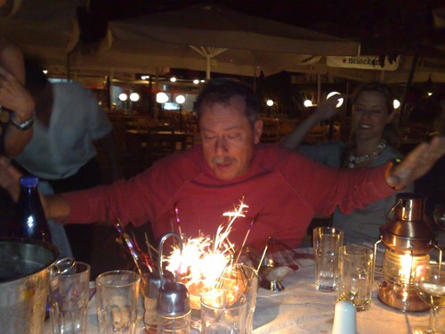 Blowing his sixtieth!