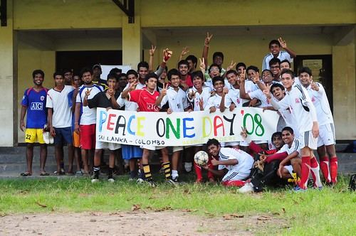 Peace One Day Football match Colombo. September 21, 2008