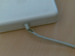 Close-up MBP adapter cable