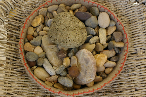 Felted Bowl filled with Thisbe's Rocks