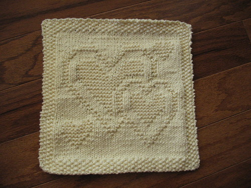 Hearts Dishcloth