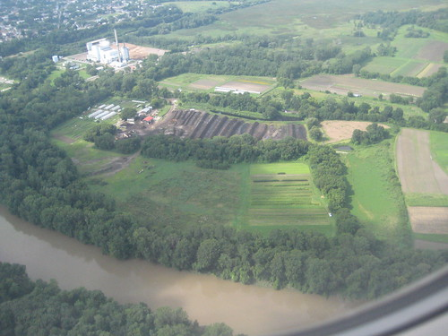 Aerial view of the Intervale