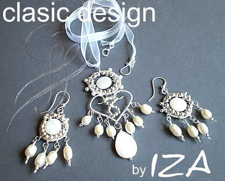 set -bijuterii -mireasa-perle-sidef-argint by you.