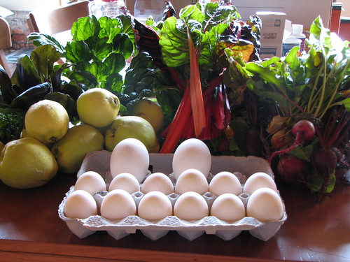 Produce and eggs from Dog Mountain Farm