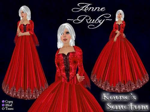 Anne - Gown - Ruby - Ad