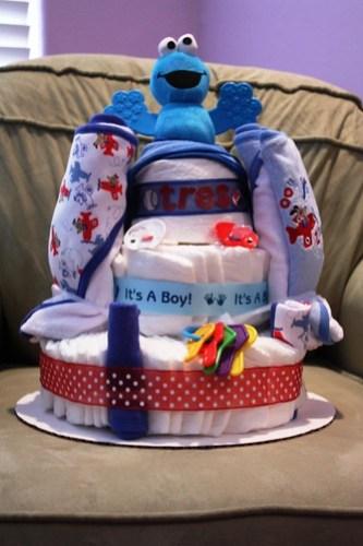 Diaper Cake for Tres