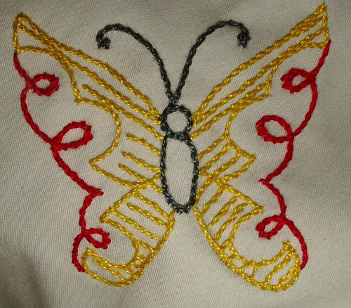 yellow red butterfly