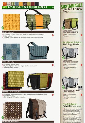 Timbuk2's green materials