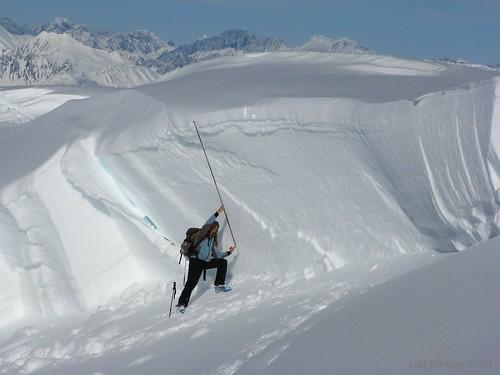 alaska skiing massive avalanche