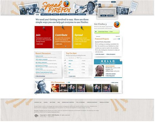 New Spread Firefox home page