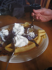 waffle at Crystal Hut