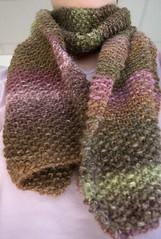 Seed Stitch Silk Garden scarf