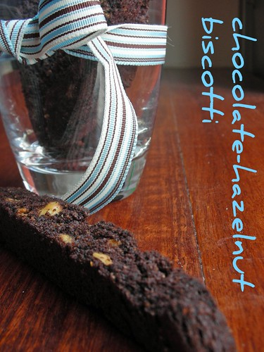 chocolate-hazelnut biscotti