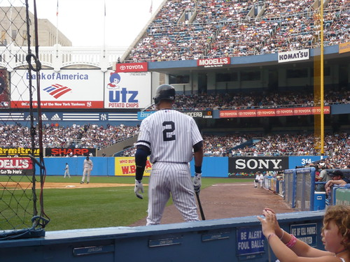 Derek Jeter, for once not advertising something.