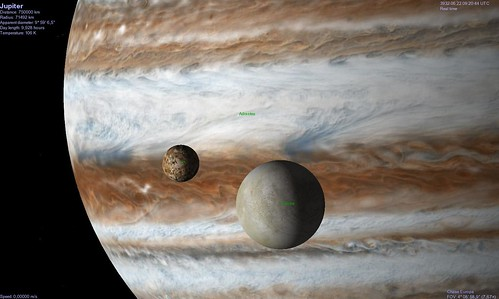 Europa, Io, Adrastea, Jupiter