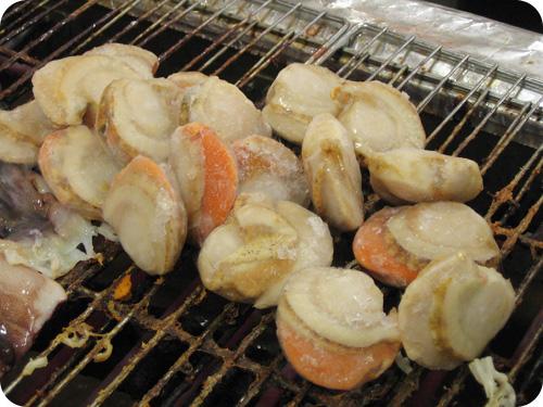 grliing scallops