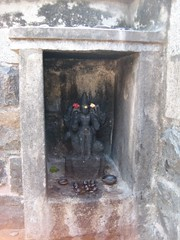16.Kala Bairavara shrine at the Praharam