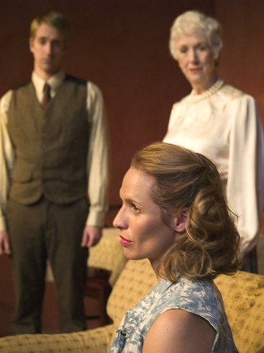 Stephen Dale, Julie Partyka and Judith Hoppe in The Autumn Garden