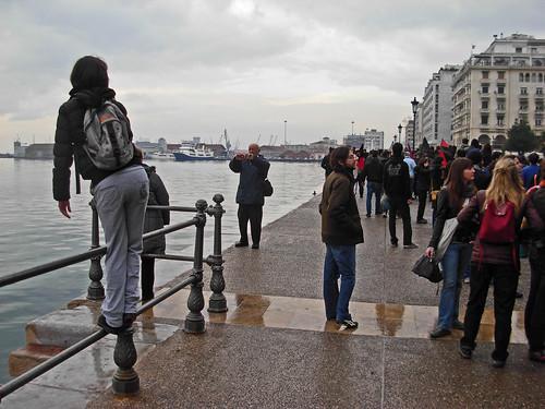 Και τους τουρίστες να βγάζουν αναμνηστικ�ς φωτογραφίες