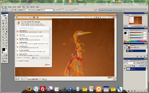 Photoshop CS 2 using Wine in Ubuntu Hardy Heron