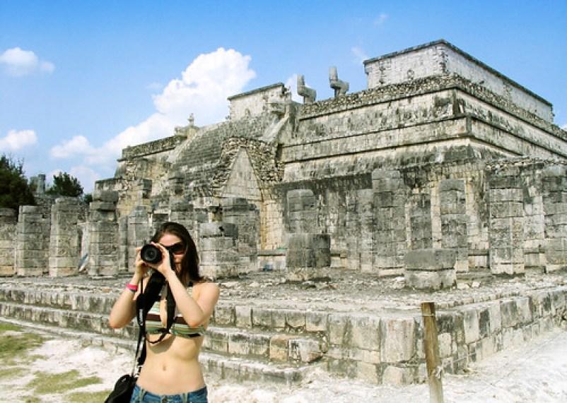 Photographing Chichen Itza