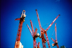 cranes near tottenham court road by lomokev