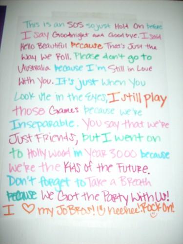 "Jonas Brothers Songs ""Story"" by Justin Bieber=My Hearttt:) (Sarah"