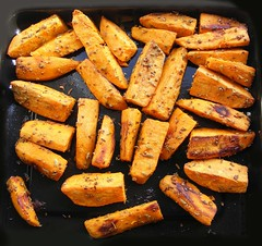 Roasted Sweet Potatoes (orange kind)