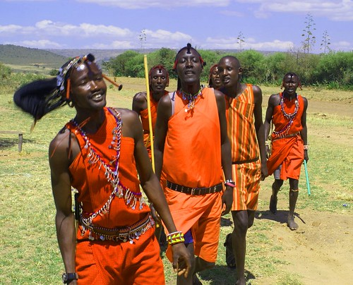 Masai Warriors - Masai Mara, Kenya
