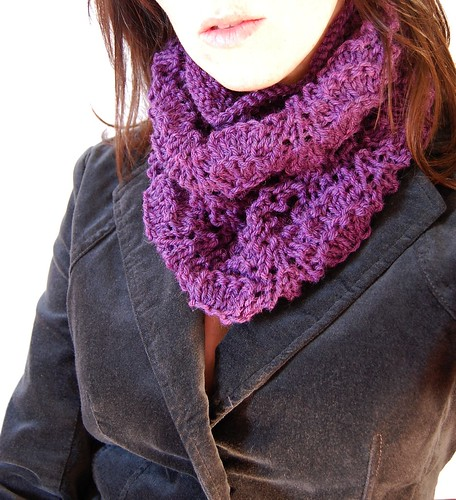 purple lace cowl