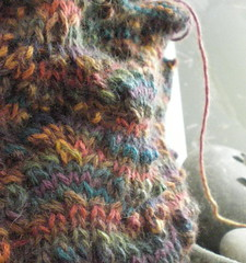 Cashmere cowl closeup