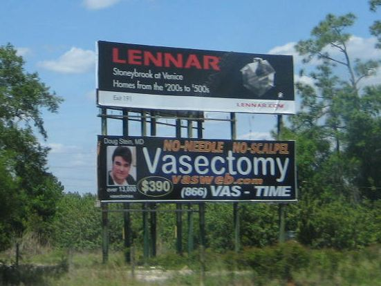 photo of vasectomy billboard
