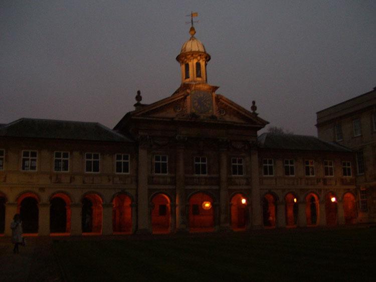 Emmanuel College at Dusk