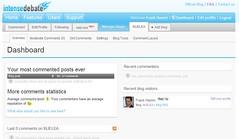 Intense Debate Blog Dashboard