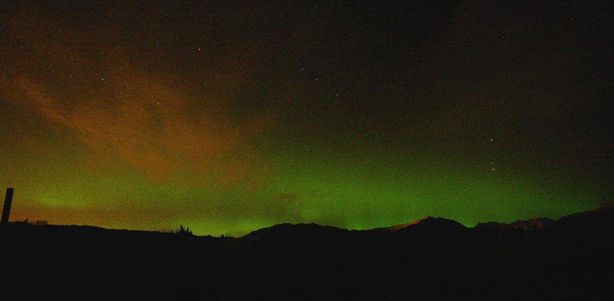 Pan 16-17 a 875 Chugach Mountain Aurora Borealis