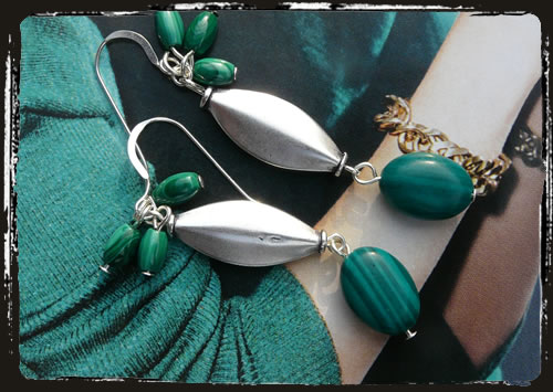 Orecchini verdi - Green handmade earrings AMHLPMA