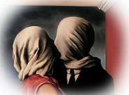 René Magritte. Los amantes, 1928.